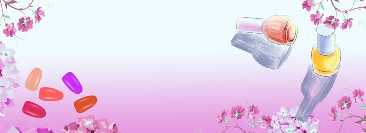 taobao नेल आर्ट सुंदर गुलाबी, नेल आर्ट, Taobao, बैनर पृष्ठभूमि छवि