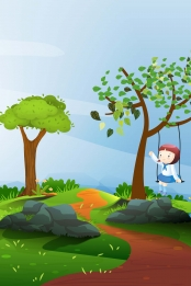 play swing traditional festival traditional spring equinox , Spring, 24 Solar Terms, Early Spring ภาพพื้นหลัง