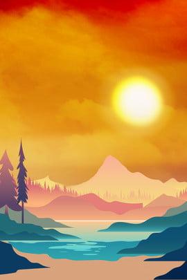 वेक्टर सरल सुंदर आकाश , पोस्टर, बादल, आग पृष्ठभूमि छवि