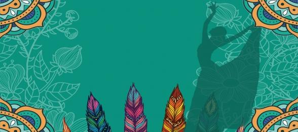 vector blue splashing classical pattern banner background, Blue, Swash Festival, Classical Background image
