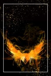sáng tạo màu đen ngọn lửa màu cam ngọn lửa , Biên, Yếu Tố Lửa, Biển Lửa Ảnh nền