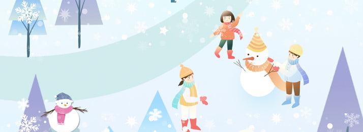 winter winter promotion discount, Hand Drawn, Snow, Cartoon imej latar belakang