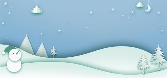season paper cut sticker style psd poster flat, Psdbanner, Winter, Psd Poster ภาพพื้นหลัง