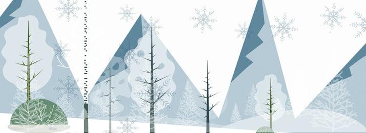 winter background hand drawn winter winter, Winter, Snow, Forest Imagem de fundo