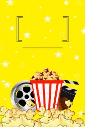 popcorn poster popcorn display board popcorn gourmet poster popcorn food display board , Yellow, Food Promotion Poster, Popcorn Imagem de fundo