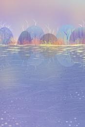 藍色 紫色 唯美 夢幻 , 古典, 藍色, 唯美 背景圖片