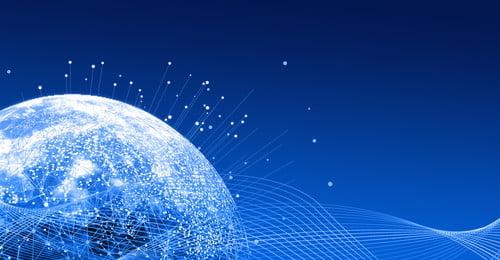 व्यापार नीली पृष्ठभूमि वातावरण चमकती धरती, रेखाएं, व्यापार, पृष्ठभूमि पृष्ठभूमि छवि