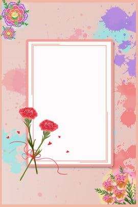 Carnation Mother s Day Poster , Mother Love, Mother S Day Poster, Mother S Day Background image