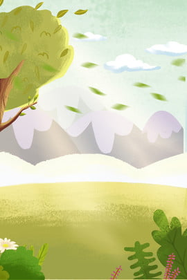 green meadow fresh plants white clouds sky , White Clouds, Grass, Fresh Plants ภาพพื้นหลัง