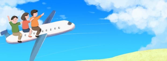 कार्टून हवा 51 यात्रा हवाई जहाज, वसंत, 51, श्रम दिवस पृष्ठभूमि छवि