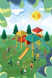 バックグラウンド お祝い こどもの日 遊び場 , バックグラウンド, こどもの日, Psdの重ね合わせ 背景画像