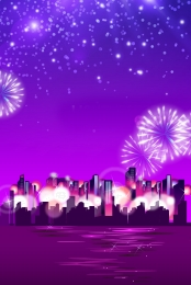city night scene gradient fireworks , City, Fireworks, Night Scene Imagem de fundo