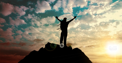climbing silhouette sunset background, Climbing The Peak Of Success, Climbing, Silhouette Background image