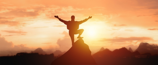 climbing the peak of success, Climbing The Peak Of Success, Climbing, Silhouette Background image