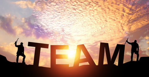 climbing the peak of the team s success, Team, Success, Business Background image