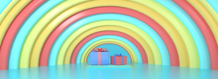 Colorful Holiday Birthday Half Ring Background, Birthday, Festive, Colorful, Background image