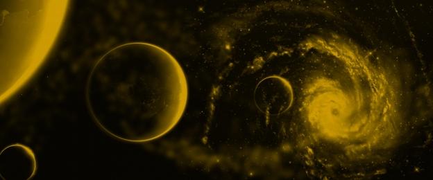 별이 빛나는 하늘 우주 황금 그라디언트 분위기, 황금, 기술, 은하계 배경 이미지