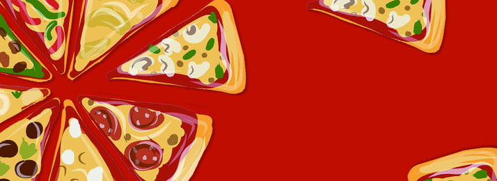 eatable food  delicious pizza  simple american banner, Food Festival, Food, Food Festival Background image