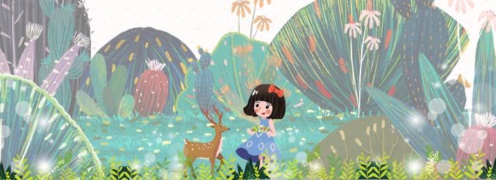 fairytale wind child plant illustration, Child, Spring, Illustration Imagem de fundo