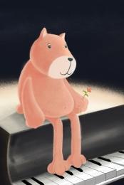 fairytale background animal background cartoon bear background cartoon animal background , Minimalistic, Cartoon Bear Background, Universal Background Фоновый рисунок