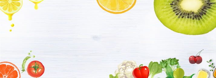 fruit and vegetable banner, Fruit, Vegetable, White Background image