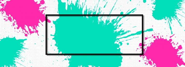 तेल चित्रकला पेंट रंग सरल, सरल, ग्रीन, बैनर पृष्ठभूमि छवि