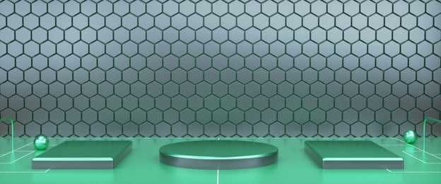 green soccer field creative e commerce promotion poster background, Green, Atmosphere, C4d Background image