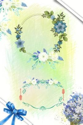 母親節 感恩母親節 賀卡 鮮花 , 絲帶, 手繪, 感恩 背景圖片