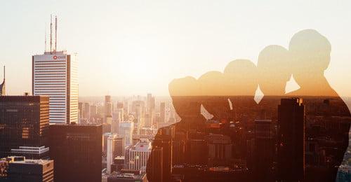 silhouette thành phố thương mại thương mại, Thành, Tài Chính, Doanh Ảnh nền