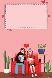 minimalistic card ventilation pink couple valentine s day 520 watching movie background , Minimalist, Card Ventilation, Pink Background image