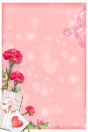 Mother s Day red carnation pink background , Mother S Day, Red Carnation, Pink Background image