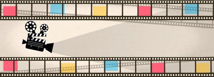 Movie e commerce creative camera E Commerce Theme Imagem Do Plano De Fundo