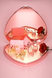Ngày của Nữ hoàng Ngày của Phụ nữ màu hồng giày cao gót Túi Xách Flower Hình Nền