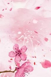 手描き 桃 美しい 小さな新鮮な , 小さな新鮮な, ミニマル, ピンクの小さな新鮮な桃の花のミニマルな背景 背景画像