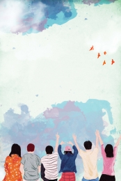 pursuit of dreams  inspirational youth , Youth, Colorful Flying, Youth Day Background image