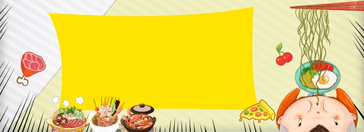 Simple flat dining gourmet hand drawn food background, Catering, Cuisine, Cartoon Background image
