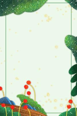 spring green leaves border dark green background , Green, Spring, Mottled Spots ภาพพื้นหลัง