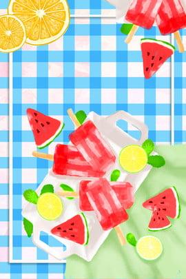 sweet watermelon cut watermelon pick watermelon watermelon juice , Summer, Fresh, Cartoon Imagem de fundo
