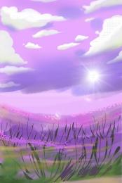 日当たりの良い花海の背景 春の花 日当たりの良い 日当たりの良い , 暖かい, 日当たりの良い, そよ風も 背景画像