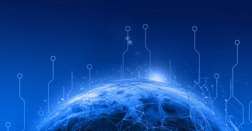 ब्लू टेक्नोलॉजी बिजनेस माहौल ज्योमेट्री, अर्थ, ज्योमेट्री, अर्थ पृष्ठभूमि छवि