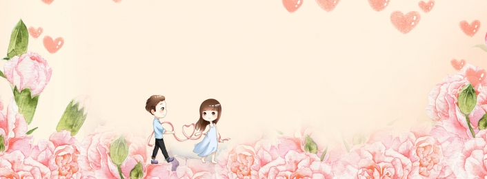 Warm Romantic Couple Banner, Romantic, Warm, Couple, Background image