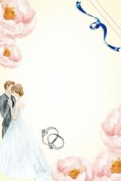 婚博會 婚慶 結婚 百年好合 , 新娘, 鑽石, 鮮花 背景圖片