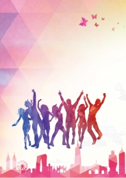 youthful may fourth youth day , Youth, Colorful Flying, Youth Day Background image