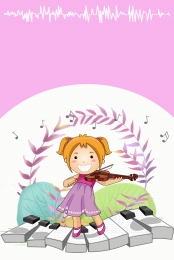 a little girl plays the violin , A Little Girl Plays Violin, Music, Musical Instruments Background image