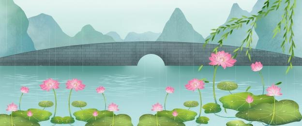 Nền phong cách Trung Quốc áp phích phong cách Trung Quốc nền hoa sen áp phích hoa sen áp Phích Hoa Hình Nền