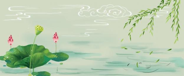 Nền phong cách Trung Quốc áp phích phong cách Trung Quốc nền hoa sen áp phích hoa sen Zen áp Phích Hình Nền