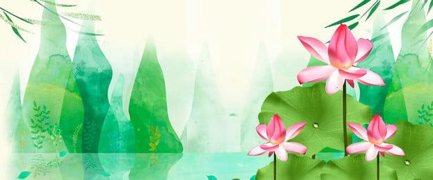 Nền phong cách Trung Quốc áp phích phong cách Trung Quốc hoa sen nền Hoa Sen Nền Hình Nền