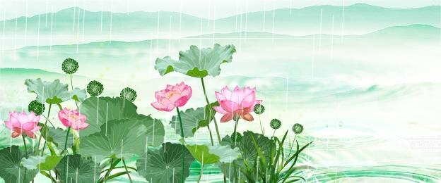 Nền phong cách Trung Quốc áp phích phong cách Trung Quốc hoa sen nền Khí Hoa Nền Hình Nền