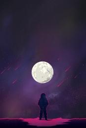 human lunar day beautiful style outer space astronaut , Moon, Lunar, Poster Imagem de fundo