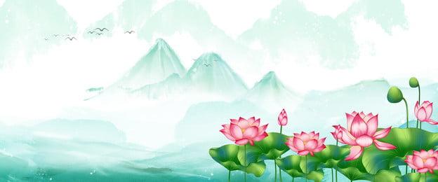 Hoa sen sương mù Zen thương mại điện tử Hoa Sen Zen Hình Nền